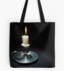 Lighted Candle Tote Bag
