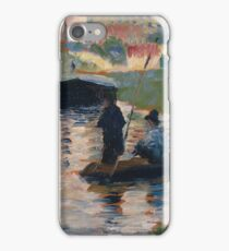 Georges Seurat - View Of The Seine iPhone Case/Skin