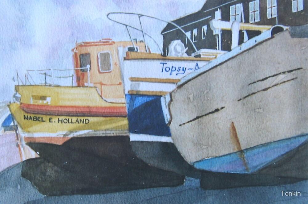 Boats, West Bay, Dorset by Tonkin