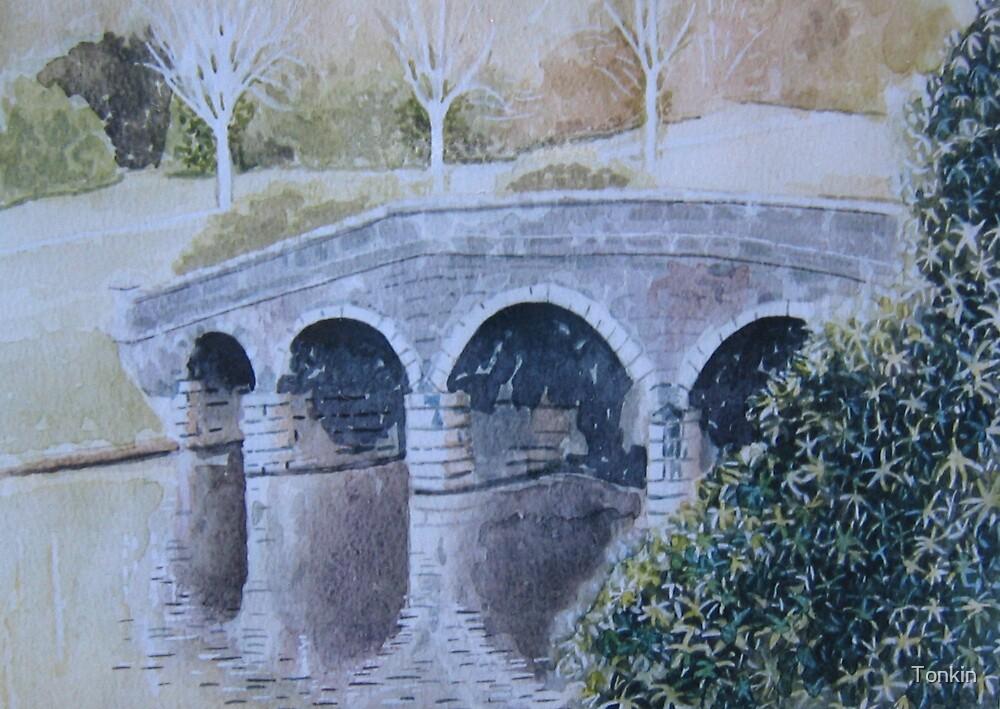 Bridge, Stourhead Gardens, Wiltshire by Tonkin