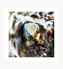 Water & Rocks Art Print