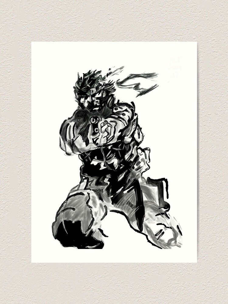 Solid Snake Metal Gear Solid Art Print
