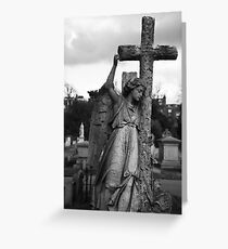 Angel with cross Brompton Cemetery Greeting Card