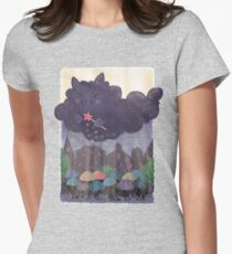 Cloudy Cat Womens Fitted T-Shirt