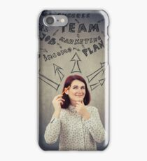Successful businesswoman thoughts iPhone Case/Skin