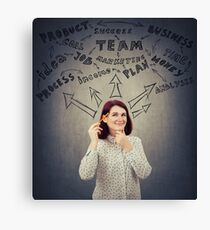 Successful businesswoman thoughts Canvas Print