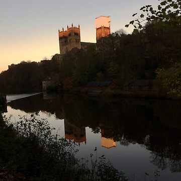 Reflection of Durham Cathedral at sunset by hannahturner21