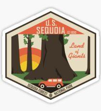 Pegatina Parque Nacional Sequoia