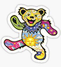 The Hippie-Tripy Bear Sticker
