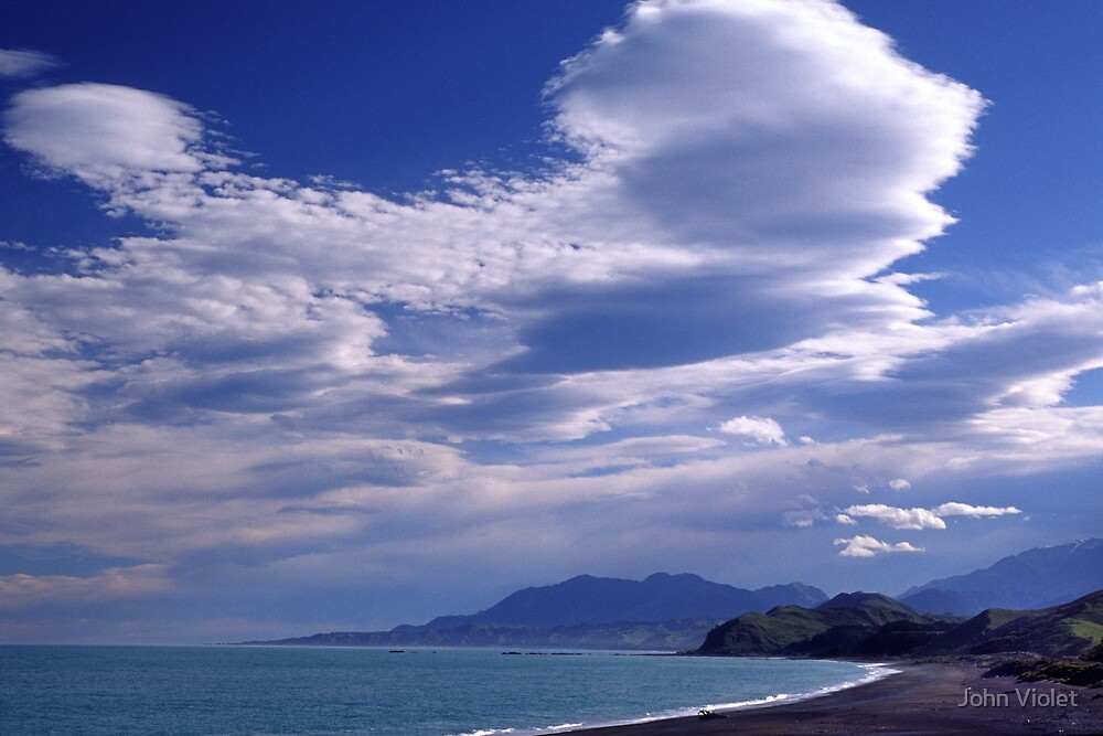 Sky and Mountains by John Violet