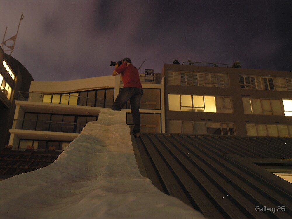 andrew bosman on the roof of gallery 26 milsons point by Gallery 26