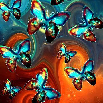 Mariposa espacial, mariposas, galáctica, universo, planeta, naturaleza, tierra, de boom-art