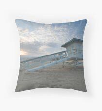 Malibu Beach Sunset Throw Pillow