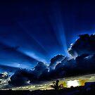 blue rays... by Wieslaw Jan Syposz