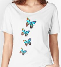 Space Butterfly, Butterflies, Galaxy, Universe, Planet, Nature Women's Relaxed Fit T-Shirt