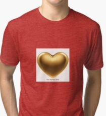 Golden heart Tri-blend T-Shirt