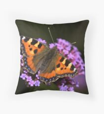 Tortoise Shell Butterfly Throw Pillow