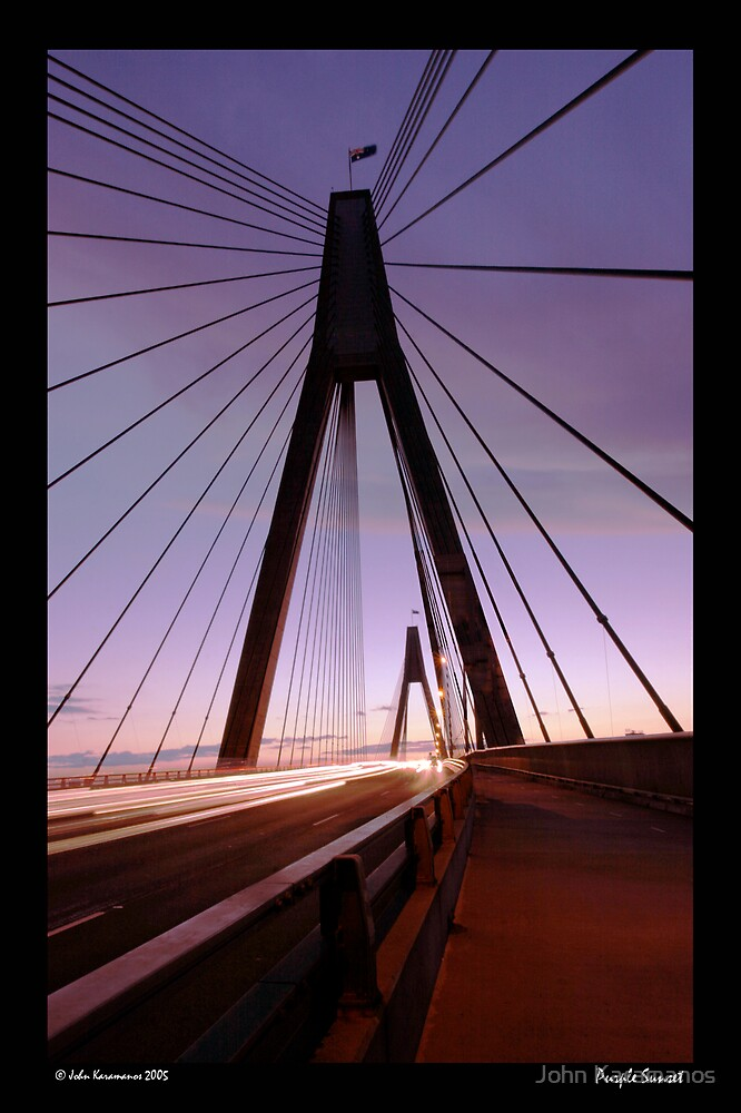 Purple Sunset by John Karamanos