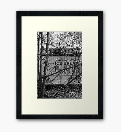 old ice cream truck Framed Print