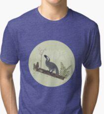 Utahraptor in the Forest Tri-blend T-Shirt