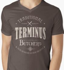 Terminus Butchers (light) Men's V-Neck T-Shirt