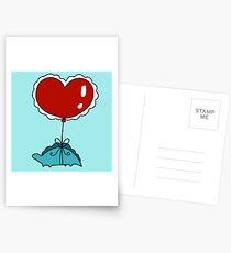 Heart Balloon Stegosaurus  Postcards