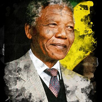 Nelson Mandela Watercolour by JDempzz