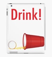 Drink! Beer Pong College t-shirt iPad Case/Skin
