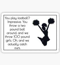 Cheer Quote Sticker