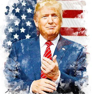 Donald Trump Watercolour by JDempzz