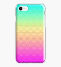 16 Bit Pixelart Bright Rainbow Color Fade Cute Nerdy iPhone Case/Skin