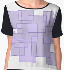 'Cubicle' Abstract Minimalist Artwork Women's Chiffon Top
