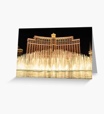 The fountains at Bellagio Greeting Card