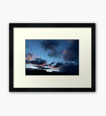 Keswick Mountains, Sunset cloudy sky Framed Print
