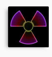 Multicolor Nuclear Symbol Canvas Print