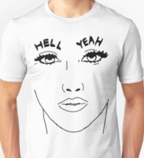 """Jenna Marbles Eyebrows """"Hell Yeah"""" Unisex T-Shirt"""