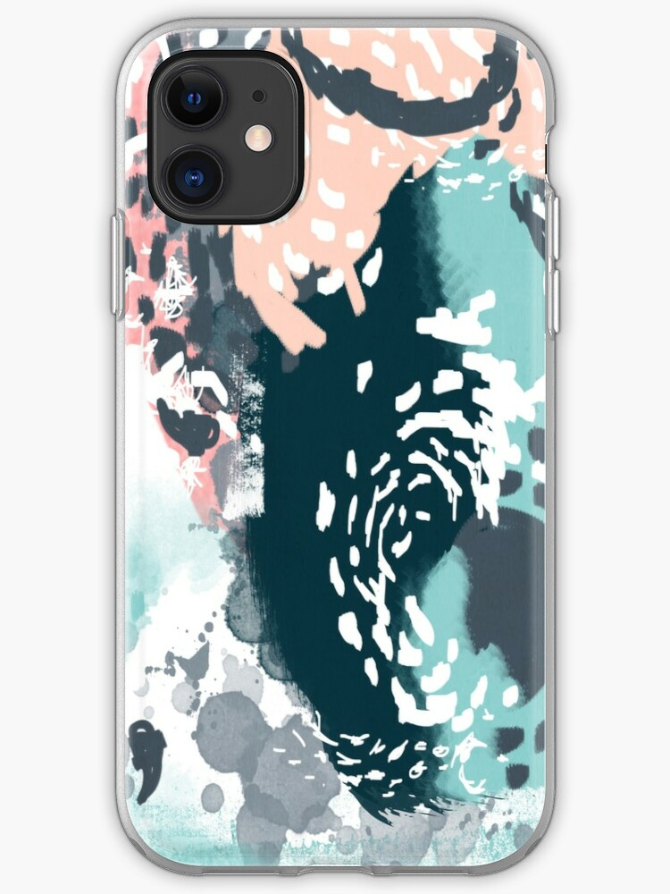 Eisley - Modern abstract painting in bright fun happy beachy colors for trendy girls college decor iPhone 11 case