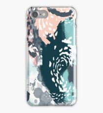August - Abstract art phone case gifts ideas for feminine bold modern bright happy colors iPhone Case/Skin