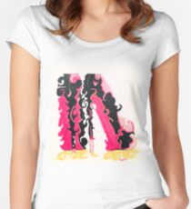 Pretty pink shoes Women's Fitted Scoop T-Shirt