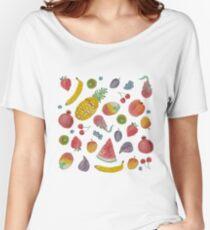Watercolour Fruit Women's Relaxed Fit T-Shirt
