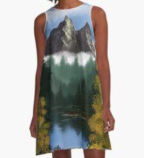 Mountainscape A-Line Dress