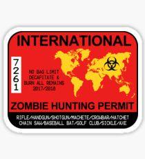 International Zombie Hunting Permit 2017 Sticker