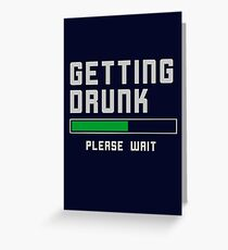 Funny Beer Alcohol T-Shirt  Greeting Card