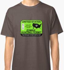 Zombie Hunting Permit 2013/2014 Classic T-Shirt