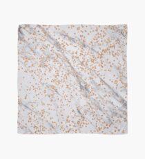 Rose gold diamond confetti on marble Scarf
