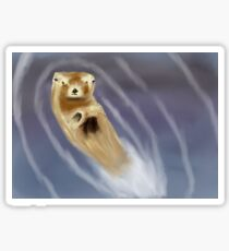Otter Swimming Sticker