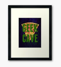 Down In The Geek Cave Framed Print