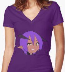 succubus (male) - full Women's Fitted V-Neck T-Shirt