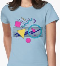 1988 Sensations - 80's Retrowave / Outrun / Memphis Milano Style Womens Fitted T-Shirt