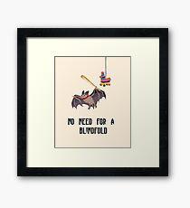 No Need For A BlindFold- Bat and Pinata Framed Print